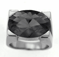 Vilma Righi - Ring mit 17x13 mm black Zirkonia