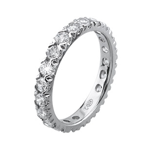 2 Jewels Eternity Ring Infinity white
