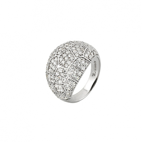 2 Jewels Ring Charme white