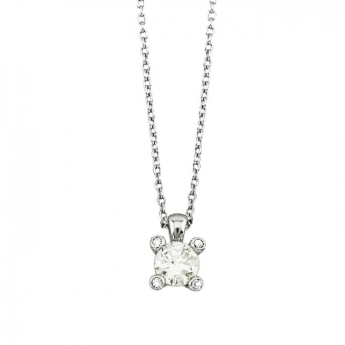 2 Jewels Collier Glitter mit Zirkonia Solitaire