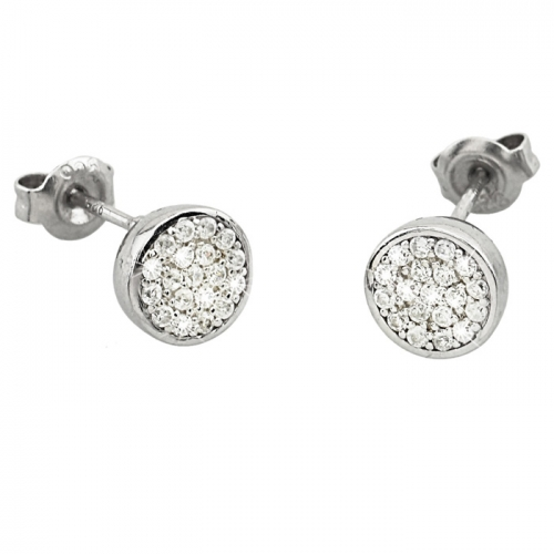 2 Jewels Ohrstecker Glitter white