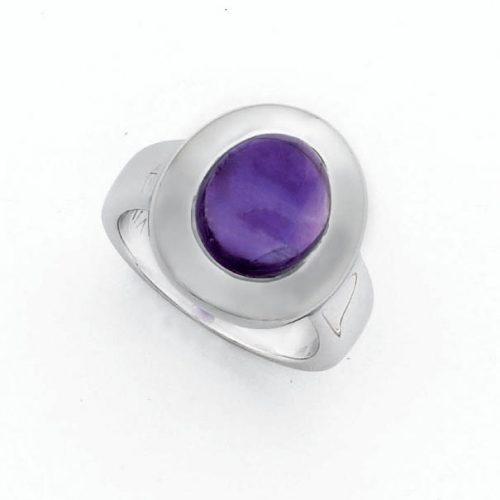 Design Ring mit 12x10 mm Amethyst