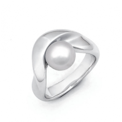 Design Ring mit 8 mm Perle