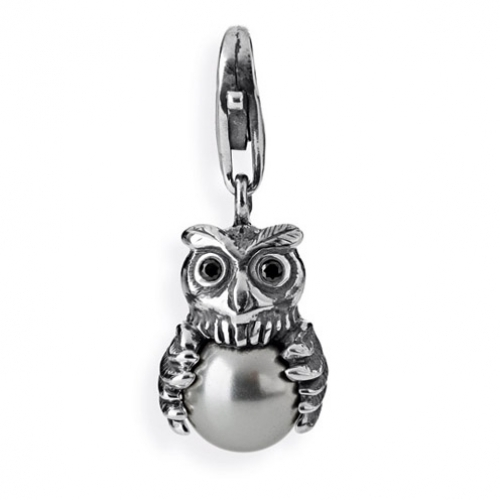 Heartbreaker Charms Eule black HB416