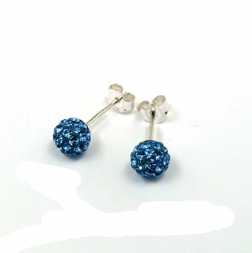 Le Chic Ohrstecker 6 mm Kristall blau