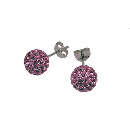 Le Chic Ohrstecker 8 mm Kristall rosa
