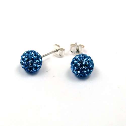 Le Chic Ohrstecker 8 mm Kristall blau