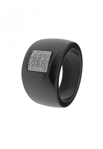 LDC - Keramik Ring mit 16 Diamanten 0,15 ct 750 WG