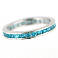 Vilma Righi - Eternity Ring mit 28 Zirkonia blau #56