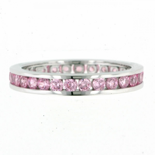 Vilma Righi - Eternity Ring mit 28 Zirkonia rosa #56