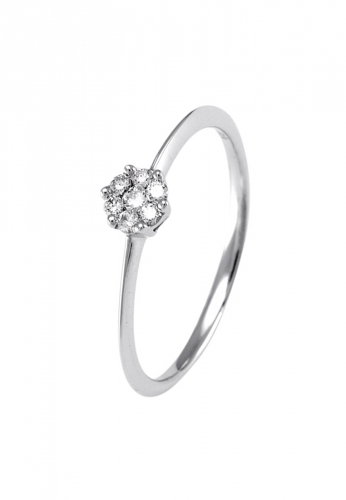 LDC - Ring mit 7 Diamanten 0,07 ct 750 WG