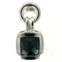Vilma Righi - Anh�nger mit 5x5 mm black Zirkonia
