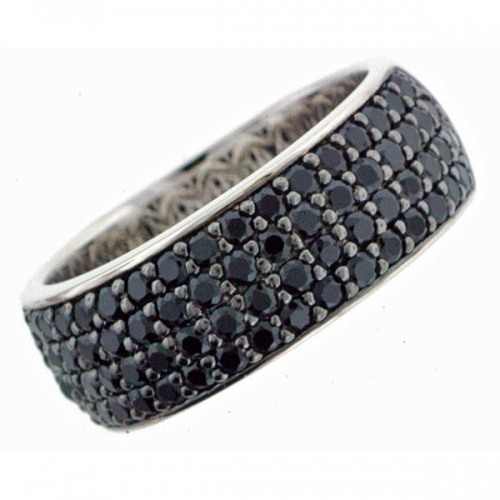Vilma Righi - Halbeternity Ring 66 Zirkonia black