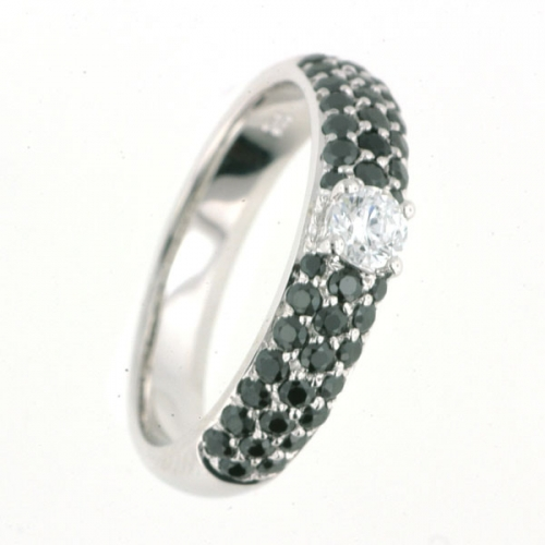 Vilma Righi - Ring mit 43 Zirkonia black
