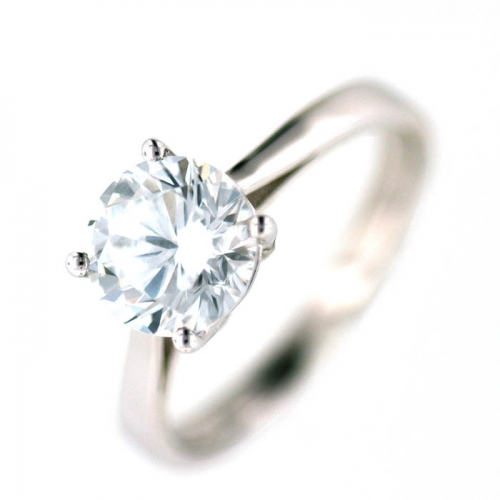 Vilma Righi - Ring mit 7 mm Zirkonia Solitaire