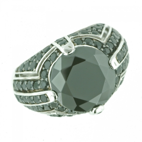Vilma Righi - Ring mit 83 black Zirkonia