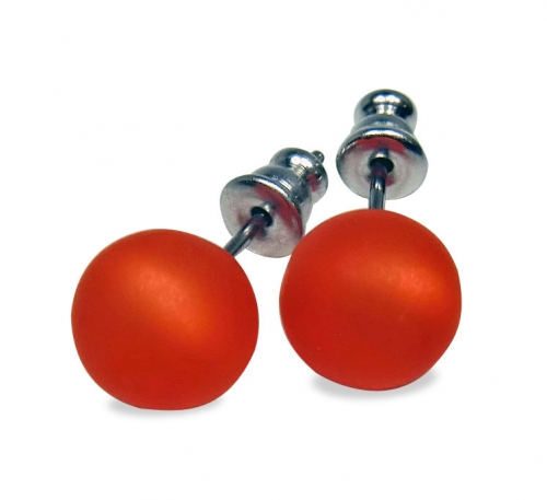 Heideman Ohrstecker 8 mm orange polaris